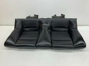 2005 2009 Oem Ford Mustang Gt Rear Black Leather Back Seat Bottom Cushion S7931