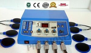 Electrotherapy 4 Channel Digital Display Therapy Machine New Chiropractic