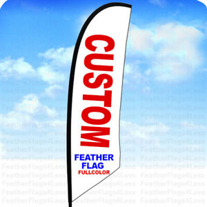Custom Windless Swooper Flag Feather Banner Sign For 8 Ft Pole Kit flag Only