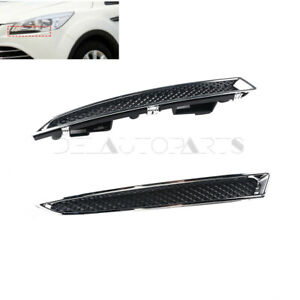 Left Right 2x Headlight Lower Trim Fit For 2013 2016 Ford Escape Dv45 8229 Aa