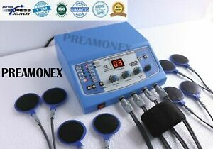 Electrotherapy Unit Physical Pain Relief Massage 4 Channel Physiotherapy Machine