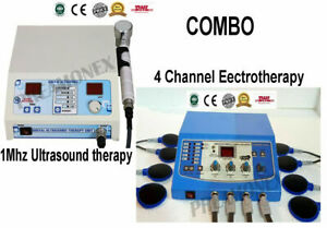 Ultrasound Therapy Machine Electrotherapy 4 Channel 1mhz Pain Relief Combo Unit