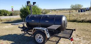 Custom Trailer With Bbq Smoker And Grill Pit