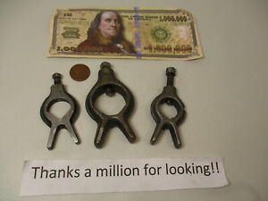 3 Small Lathe Dogs Dog Forged Capacities Up To About 7 8 1 Vg Cond