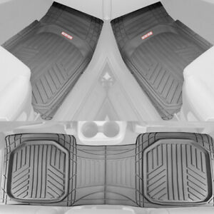 Gray Car Floor Mats 3 Piece Set Rubber All Weather Protection For Car Truck Suv