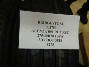 2 Dealer Take Off Bridgestone Alenza 001 Rft Rsc 275 40 20 106w Tires 004750 Q0