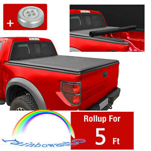 For Nissan Frontier 2005 18 Tonneau Cover Bed Fleetside 5 Ft Soft Roll Up Vinyl