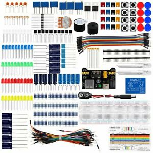 Electronic Component Starter Kit Wires Breadboard Buzzer Resistor Transistor