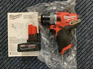 Milwaukee 2504 20 M12 Fuel Brushless 1 2 In Hammer Drill With Battery 4 0