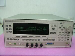 Agilent 83620a 10mhz 20ghz Synthesized Sweeper Signal Generator Very Good Mint
