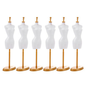 6 Pcs Doll Mannequin Support Doll Model Stand Cloth Stand For Doll Decor Home