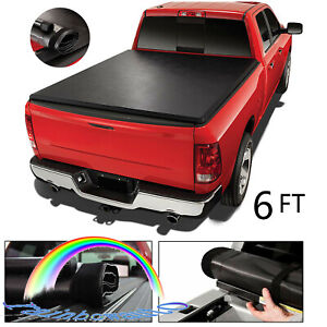 For Toyota Tacoma 2005 2015 Roll Up Tonneau Cover Lock Soft 6ft 72 Short Bed