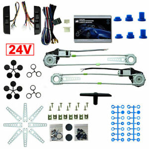 New Universal Electric Power Window Lift Regulator Conversion Kit 2 Door Pickup