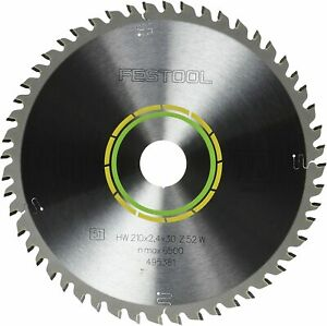 Festool 495381 Fine Tooth Cross cut Saw Blade For Ts 75 Plunge Cut Saw 52 Toot