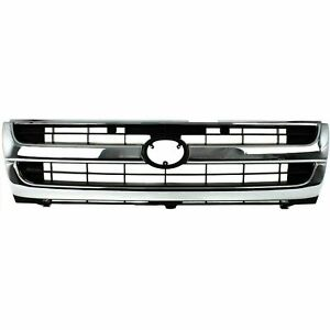 New 1997 2000 Fits Toyota Tacoma Grille Chrome Shell Primed Black Insert 2wd