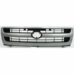 New 1997 2000 Fits Toyota Tacoma Grille Primed Silver Shell Painted Black Insert
