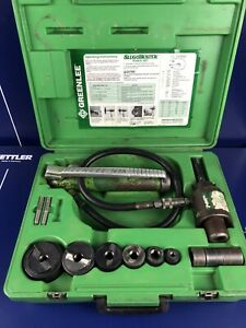 Greenlee Slugbuster Knockout Punch And Hydraulic Driver Set 7306sb