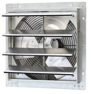 Iliving Ilg8sf16v 16 Inch Variable Speed Wall Mounted Steel Shutter Exhaust Fan