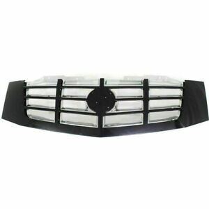 New 2007 2014 Fits Cadillac Escalade Grill Primed Black Shell Chrome Insert