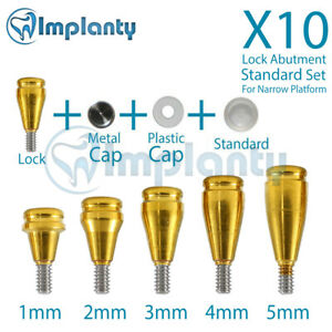 10 Lock Abutment Np Standard Set Dental Conical Connection Fit Nobel Active
