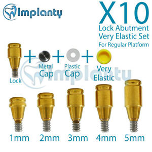 10 Lock Abutment Rp Very Elastic Set Dental Conical Connection Fit Nobel Active