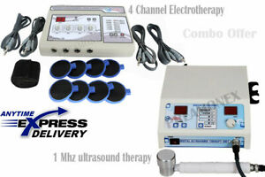 Combo Offer Ultrasound 1 Mhz Therapy 4 Channel Electrotherapy Pain Relief