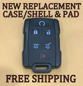 New Keyless Remote Fob Case Shell Amp Pad For 15 20 Chevy Tahoe Suburban 13577766 Fits Tahoe