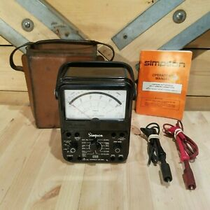 Simpson 260 Series 8 Volt Ohm Milliammeter W Leather Carry Case Swanky Barn