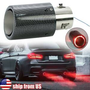 Carbon Fiber Red Led Exhaust Tip Tail Pipe 1 3 2 4 Inlet 2 5 Outlet 6 5 Trim