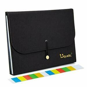 Expanding File Folder 13 Pocket Expanding Accordion File Folder Organizer Black