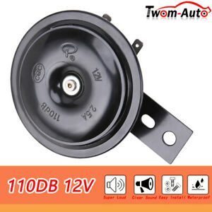 Universal 12v Electric Horn Waterproof Super Loud 110db For Car Atvs Motorcycle
