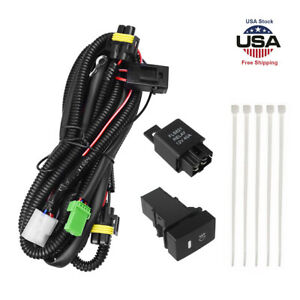 Universal Led Light Bar H11 Fog Light Wiring Harness Kit 12v Switch Relay Fuse