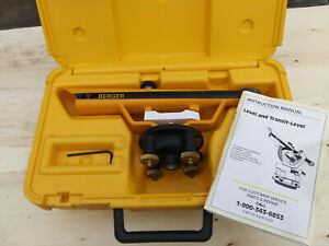 Berger Instruments Model 135 Surveying Transit Level W hard Case Papers Cst