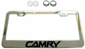 New Stainless Steel For Toyota Camry Chrome License Plate Frame Cover Screw Caps