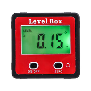 Digital Inclinometer Spirit Level Box Protractor Angle Finder Gauge Bevel Meter