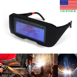 Welding Goggle Auto Dimming Solar Power For Soldering Mask Helmet Eye Protection