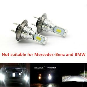 H7 3030 Led Headlights Kit High Low Beam Bulbs 100w 6000k Super Bright Us 2x