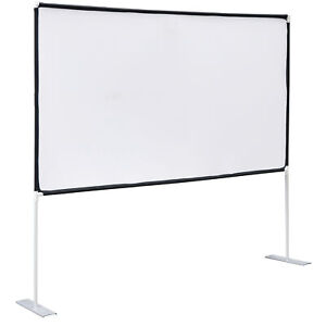 Projector Screen With Stand 100 Inch 16 9 For Indoor Outdoor Home Theater Backy