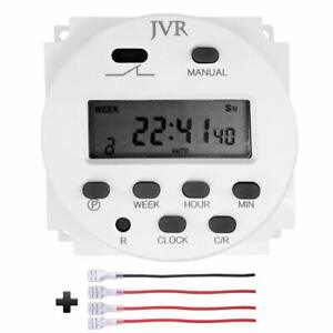 12v Timer Switch Programmable Digital 12 Volt Dc ac solar Battery Powered