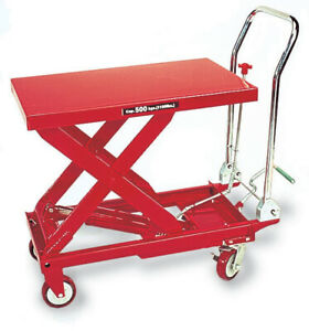 American Forge Foundry 3904 Hydraulic Table Cart