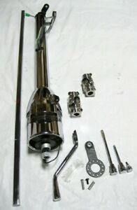 Chrome 28 Tilt Steering Column 36 Shaft U Joints For Mustang Ii Manual Rack