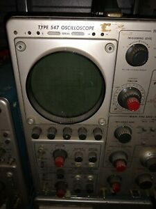 Tektronix Type 547 Oscilloscope Untested As Is