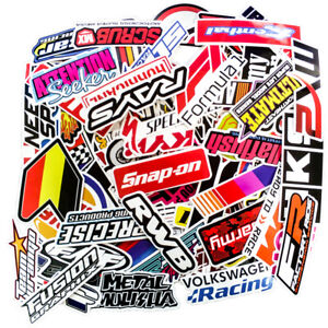 100pcs Jdm Stickers Pack Motorcycle Car Racing Motocross Helmet Vinyl Decals Lot