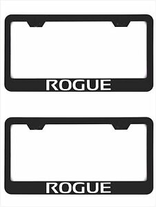 Rogue Black Car License Plate Frame Cover Caps Screws Stainless Steel For Nissan