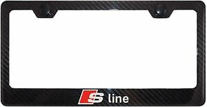 Carbon Fiber Sline Racing Stainless steel License Plate Frame Cover For Audi New