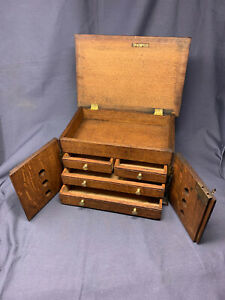Antique Collectors Box Watchmakers Toolbox Jewellry Trinket Box