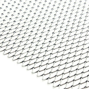 Racing Car Front Bumper Grilles Grill Vent Diamond Mesh Net Rhombus Style Silver
