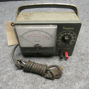 Simpson Model 715 Electrical A c Vtvm Meter Electricsion Tool Vintage 52742