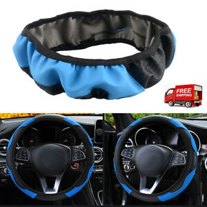 15 Car Steering Wheel Cover Black Microfiber Leather Car Sedan Cool Universal