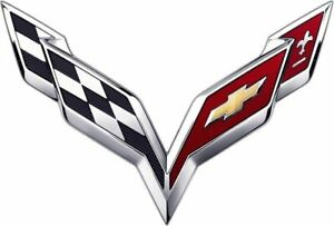 New Chevy C7 Corvette Flas Stingray Cross Flag Hood Trunk Emblem Badge Nameplate